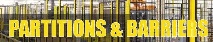 Partitions & Barriers Department Banner