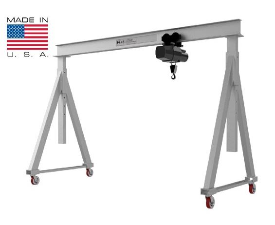 ADJUSTABLE HEIGHT ALUMINUM GANTRY CRANES