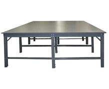 "BIGSTUFF PRODUCTION TABLE W/ .875"" GREY LAMINATE TOP"